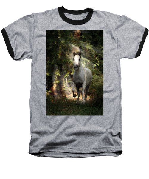 Breaking Dawn Gallop Baseball T-Shirt by Wes and Dotty Weber