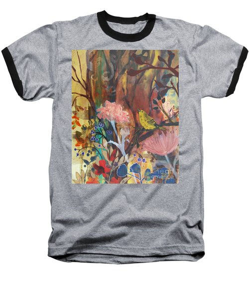 Baseball T-Shirt featuring the painting Breath Of Cooler Air by Robin Maria Pedrero