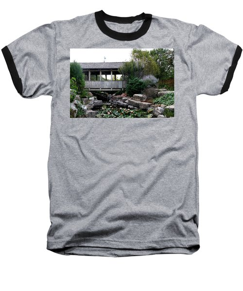 Baseball T-Shirt featuring the photograph Bridge Over Water by Elizabeth Winter