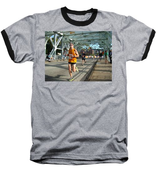 Baseball T-Shirt featuring the photograph Bridge Runner by Alice Gipson