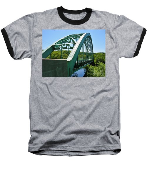 Baseball T-Shirt featuring the photograph Bridge Spanning Connecticut River by Sherman Perry