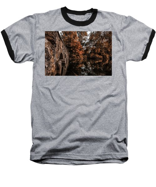Baseball T-Shirt featuring the photograph Bridge To Autumn by Tom Gort