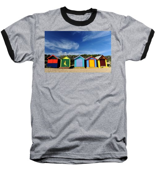 Baseball T-Shirt featuring the photograph Brighton Beach by Yew Kwang