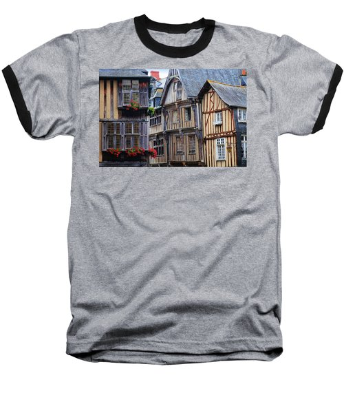 Baseball T-Shirt featuring the photograph Brittany Buildings by Dave Mills
