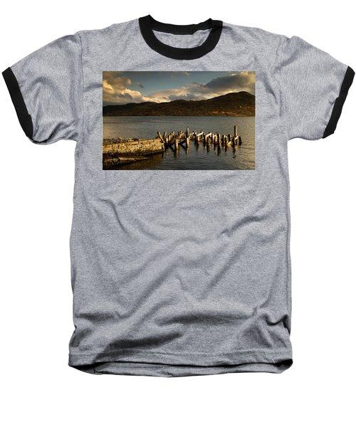Baseball T-Shirt featuring the photograph Broken Dock, Loch Sunart, Scotland by John Short