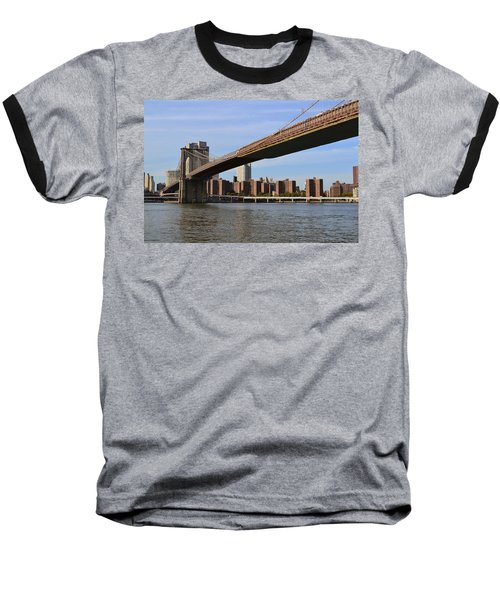 Brooklyn Bridge1 Baseball T-Shirt by Zawhaus Photography