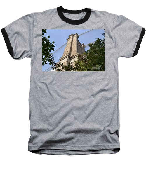 Brooklyn Bridge2 Baseball T-Shirt by Zawhaus Photography