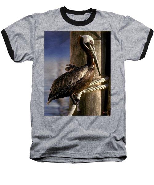 Brown Pelican In Key West 9l Baseball T-Shirt by Gerry Gantt
