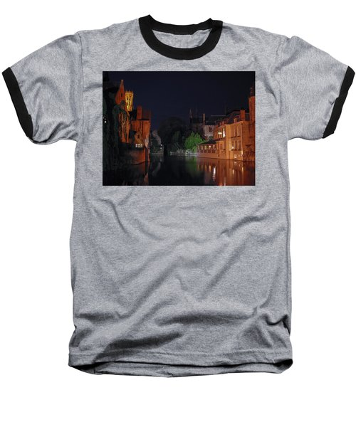 Baseball T-Shirt featuring the photograph Bruges by David Gleeson