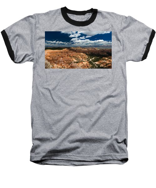 Bryce Canyon Ampitheater Baseball T-Shirt by Larry Carr