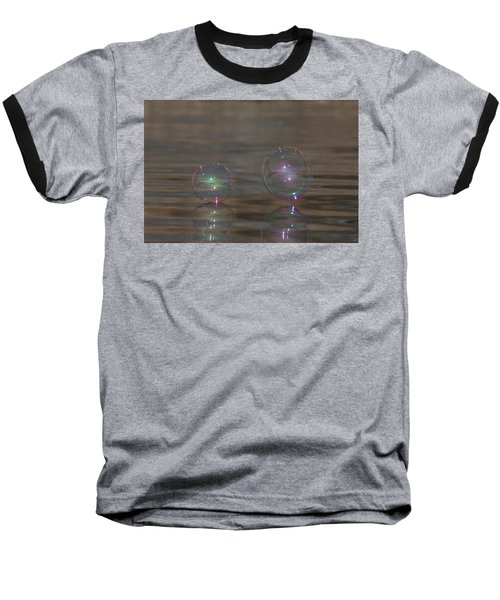 Bubble Iridescence Baseball T-Shirt by Cathie Douglas