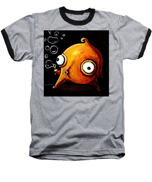 Bubbles Glob Baseball T-Shirt by Leanne Wilkes