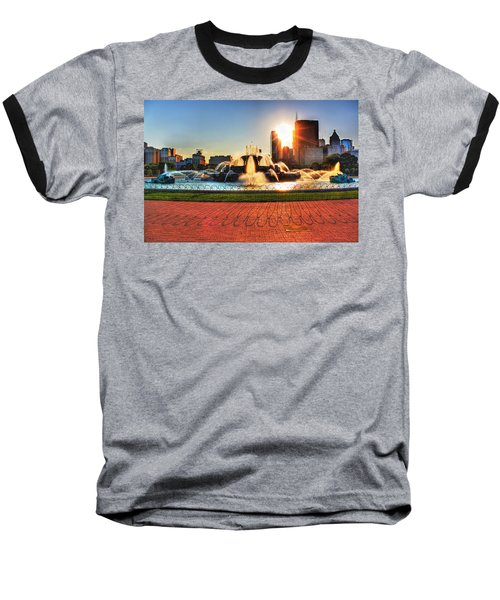 Buckingham Fountain Baseball T-Shirt
