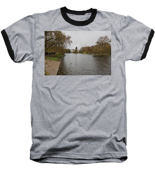 Baseball T-Shirt featuring the photograph Buckingham Palace View by Maj Seda