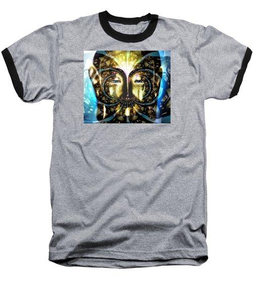 Buddha Blue Mandala Baseball T-Shirt