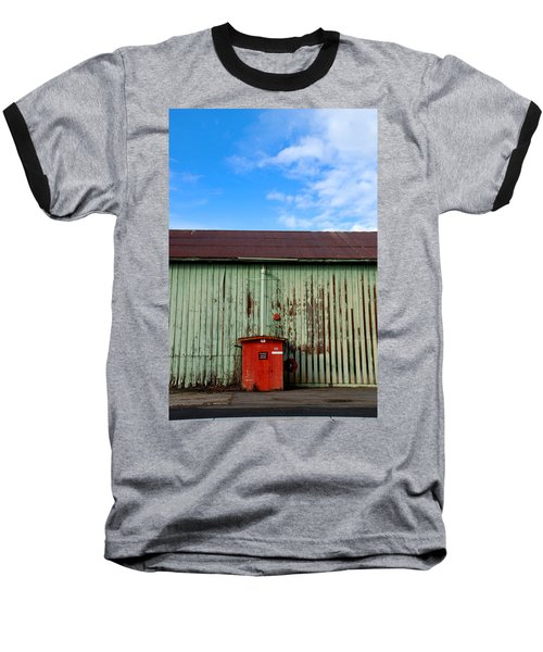 Baseball T-Shirt featuring the photograph Building Series - Red Shack by Kathleen Grace