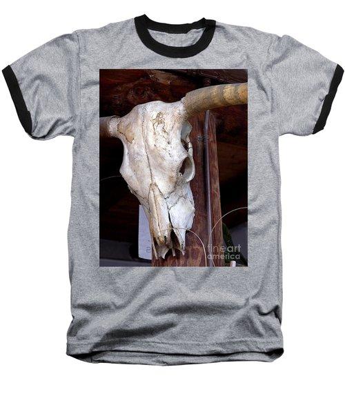 Bull Skull Baseball T-Shirt