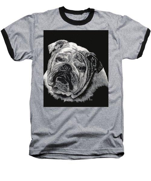 Bulldog Baseball T-Shirt by Rachel Hames