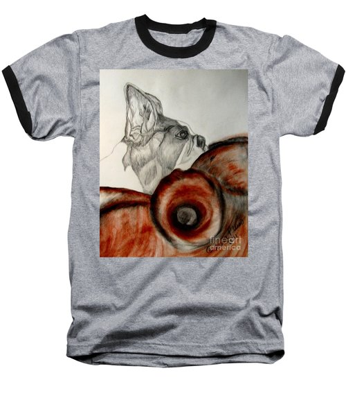 Baseball T-Shirt featuring the drawing Bundled In Blankets by Maria Urso