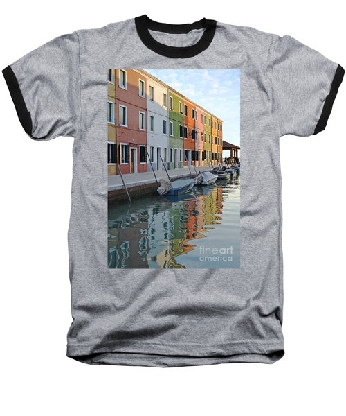 Baseball T-Shirt featuring the photograph Burano Canal by Rebecca Margraf