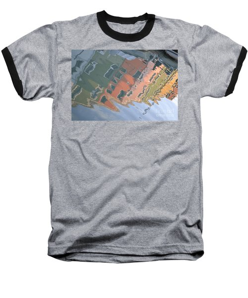 Baseball T-Shirt featuring the photograph Burano House Reflections by Rebecca Margraf