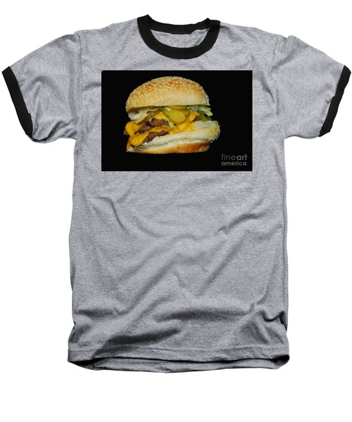 Baseball T-Shirt featuring the photograph Burgerlicious by Cindy Manero