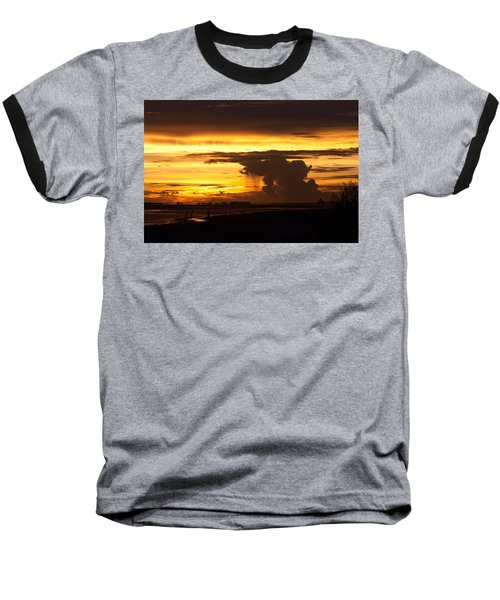 Burning Sky Baseball T-Shirt