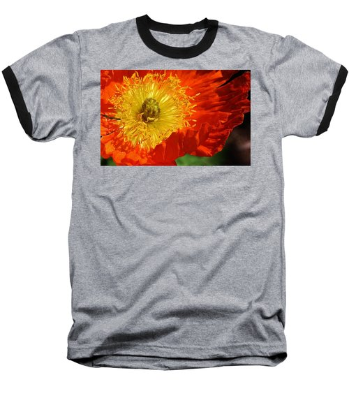 Bursting Peony Baseball T-Shirt
