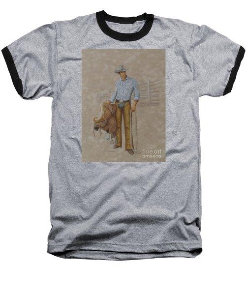 Busted Bronc Rider Baseball T-Shirt