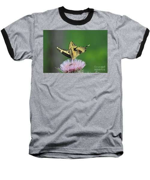 Baseball T-Shirt featuring the photograph Butterflies Are Free by Kathy  White