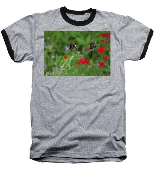 Butterfly Chase Baseball T-Shirt