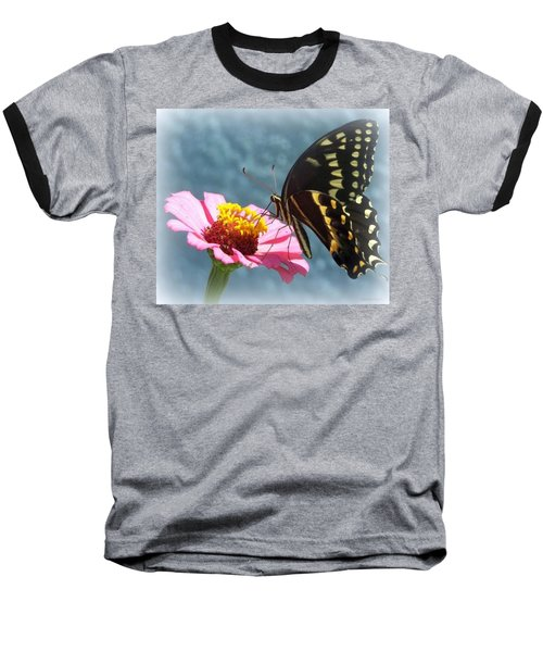 Baseball T-Shirt featuring the photograph Butterfly by Cynthia Amaral