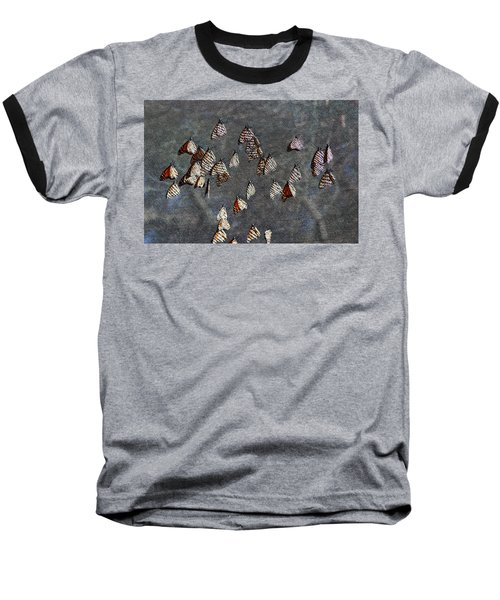 Baseball T-Shirt featuring the photograph Butterfly Gathering by Tam Ryan