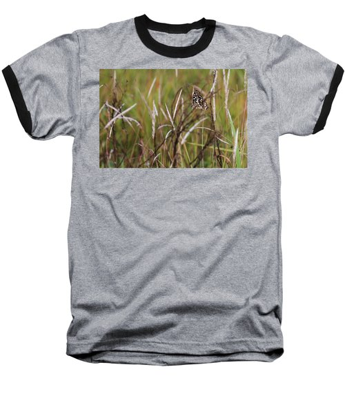Baseball T-Shirt featuring the photograph Butterfly In Flight by Fotosas Photography