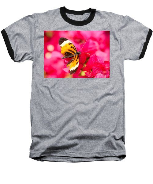 Baseball T-Shirt featuring the photograph Butterfly by Les Palenik