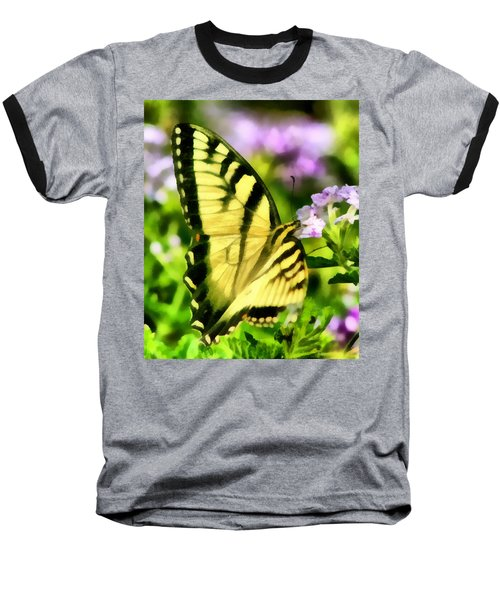 Baseball T-Shirt featuring the painting Butterfly by Lynne Jenkins