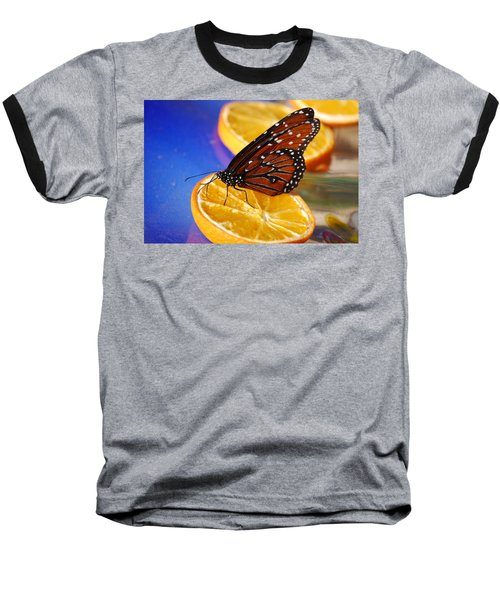 Baseball T-Shirt featuring the photograph Butterfly Nectar by Tam Ryan