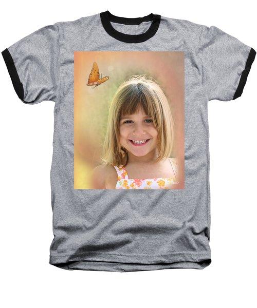Butterfly Smile Baseball T-Shirt