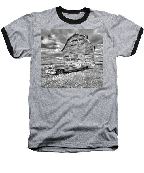 Bw - Rusty Old Cadillac Baseball T-Shirt
