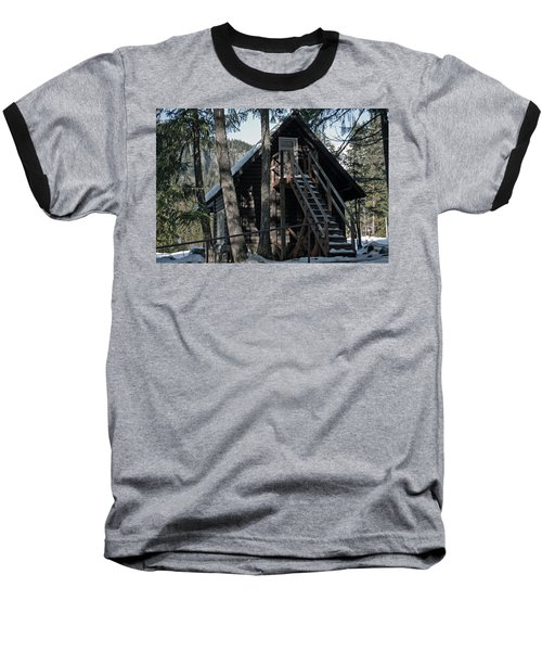 Baseball T-Shirt featuring the photograph Cabin Get Away by Tikvah's Hope