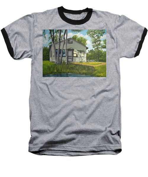 Cabin Up North Baseball T-Shirt by Norm Starks