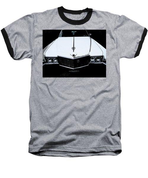 Cadillac Pimp Mobile Baseball T-Shirt by Kym Backland