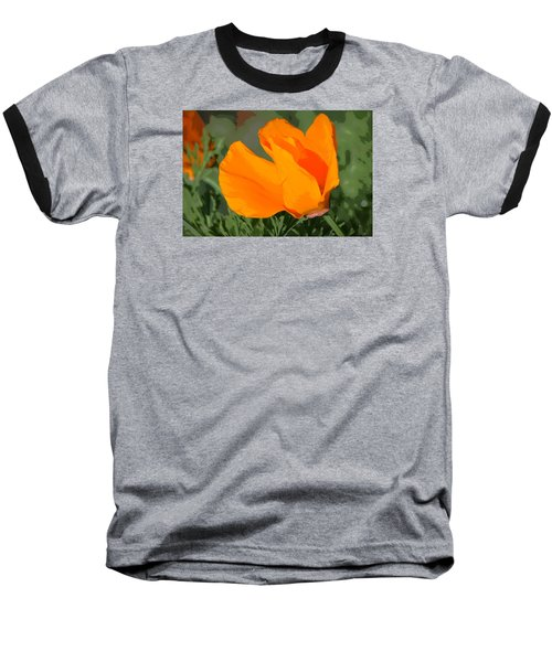 Baseball T-Shirt featuring the photograph California Poppy2 by Rima Biswas