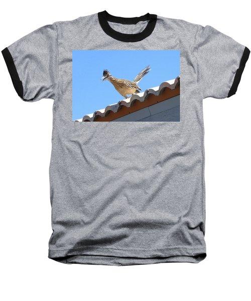 Baseball T-Shirt featuring the photograph California Roadrunner by Carla Parris
