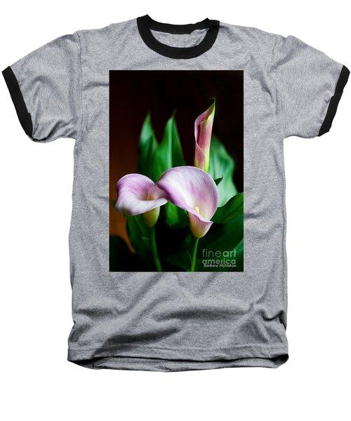 Baseball T-Shirt featuring the photograph Calla Lily by Barbara McMahon