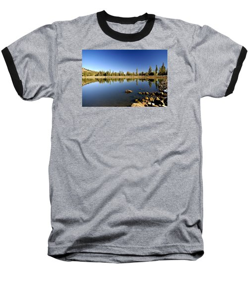 Calm Day On Red Lake Baseball T-Shirt by Michael Courtney