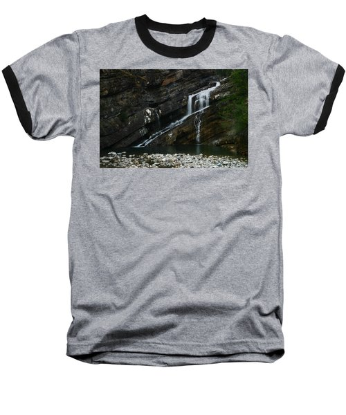Cameron Falls Waterton Lakes National Park Baseball T-Shirt