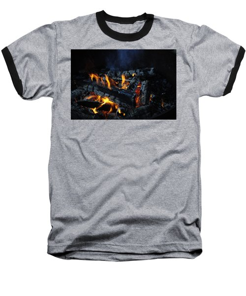 Baseball T-Shirt featuring the photograph Campfire by Fran Riley