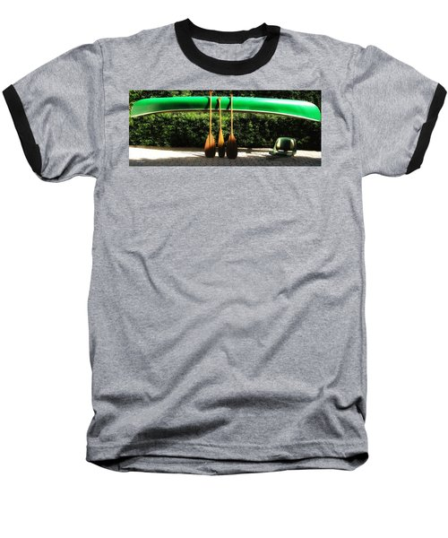 Canoe To Nowhere Baseball T-Shirt by Alec Drake