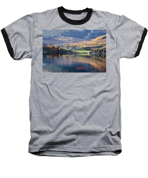 Baseball T-Shirt featuring the photograph Canoeing On Loch Goil by Lynn Bolt
